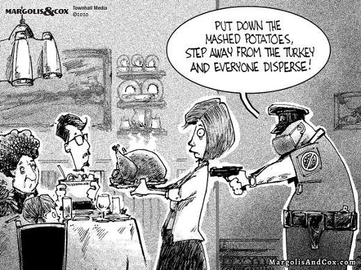 thanksgiving cop put down the mashed potatoes step away from the turkey