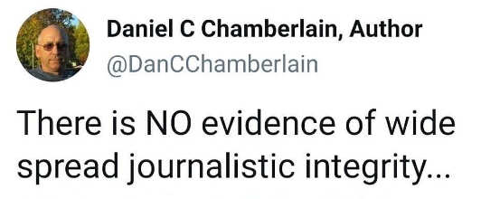 tweet there is no evidence of widespread journalistic integrity
