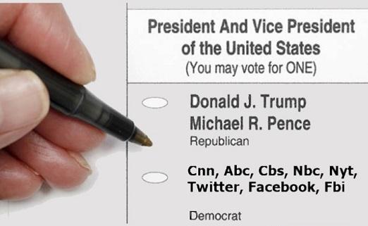 vote ballot trump vs democrat cnn abc cbs nbc nyt twitter facebook fbi