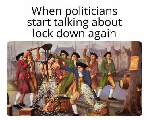 when politicians start talking about lockdown again tar feather colonists