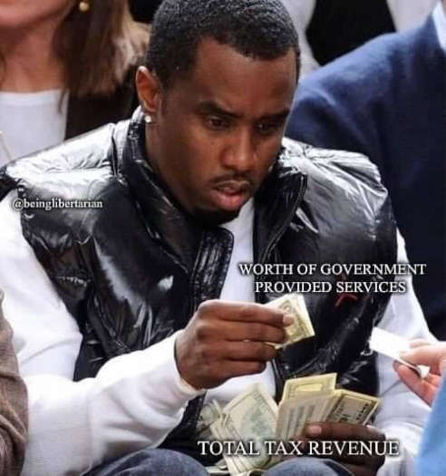 worth of government provided services small total tax revenue puff daddy