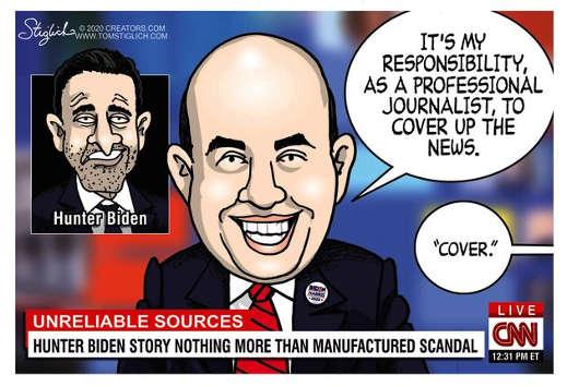 cnn unreliable sources brian stelter journalist cover up news hunter biden