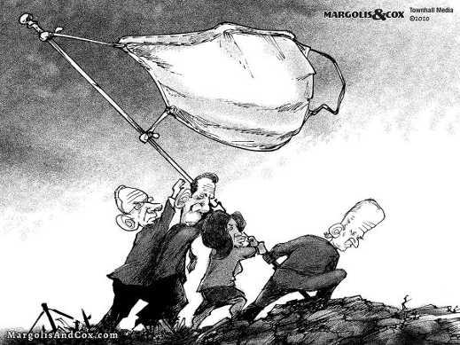 democrats planting flag facemask iwa jima