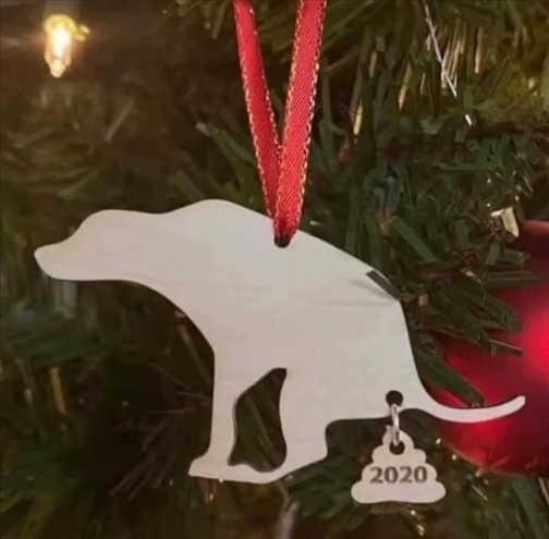 dog shit 2020 christmas ornament