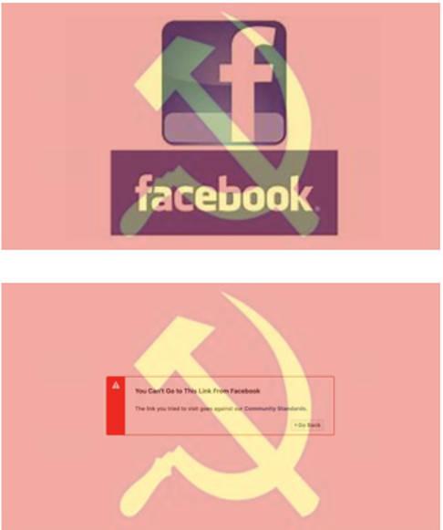 facebook soviet hammer sickle censorship posts