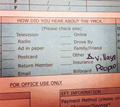 how did you learn about ymca question village people