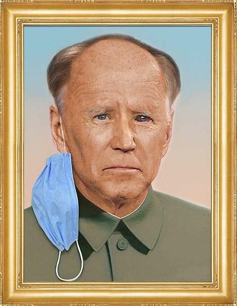 joe biden china portrait mask ear