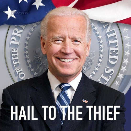 joe biden hail to the thief