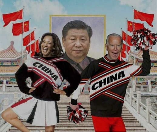 kamala harris joe biden cheerleaders china