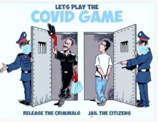 lets play covid game release criminals jail citizens