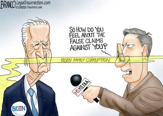 mainstream media how do you feel about false claims against you biden family corruption
