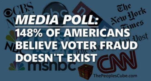 media poll 148 percent of americans believe voter fraud doesnt exist