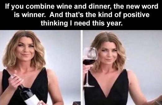 message if you combine wine dinner winner
