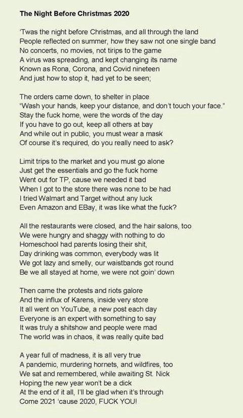 night before christmas poem 2020