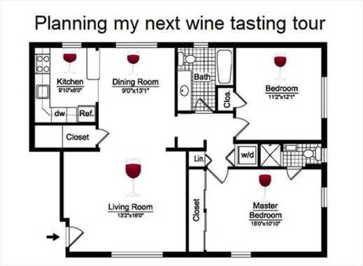 planning wine tasting tour house floor plan