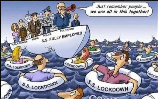 politicians media public service employed covid lockdowns drowning