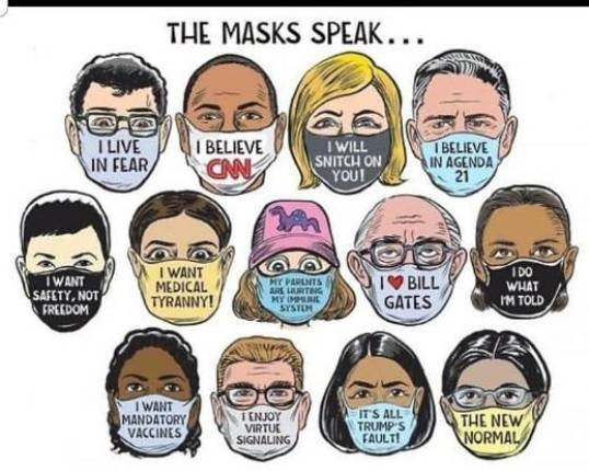 the masks speak believe cnn live in fear want safety not freedom mandatory