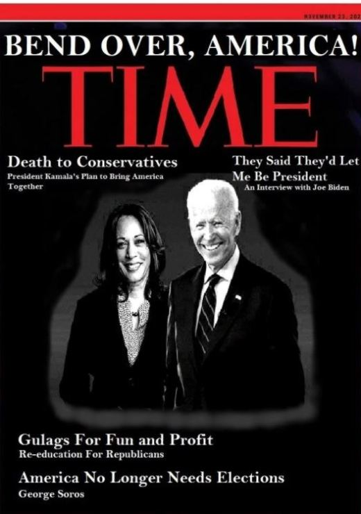 time cover bend over america kamala harris joe biden gulags george soros