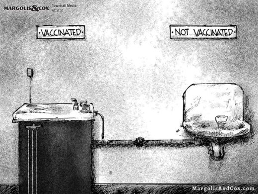 vaccinated not vaccinated drinking fountains segregation