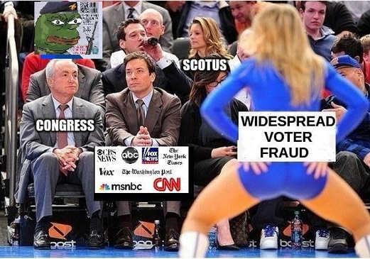 widespread voter fraud congress scotus mainstream media ignoring
