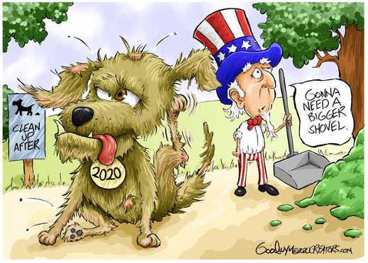 2020 gonna need bigger shovel clean up after dog
