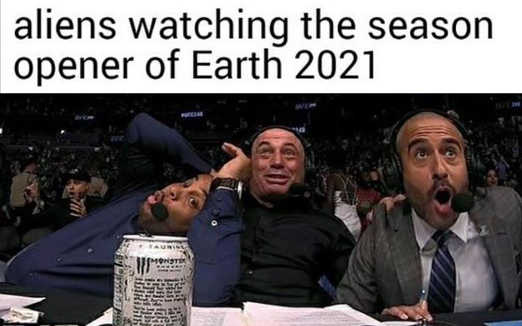 aliens watching season opener 2021