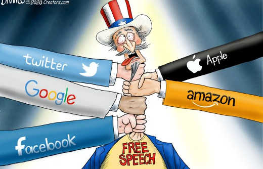apple amazon google twitter facebook strangling free speech