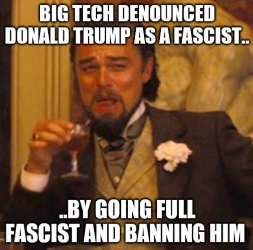 big tech denounce trump by going full fascist