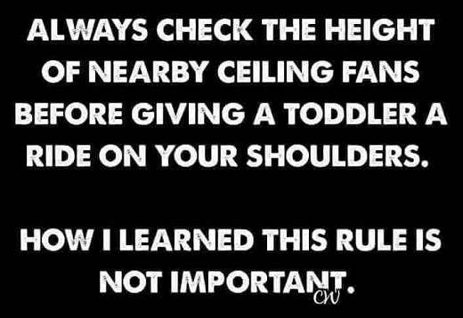 check height of fans toddler how i learned not important