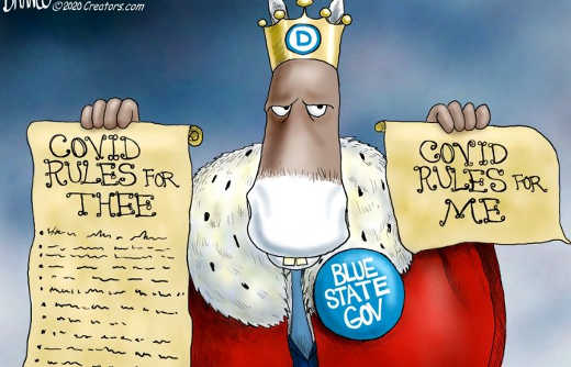 democrat king covid rules for thee for me blue state governors