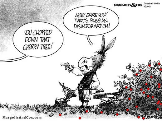 democrats chop down cherry tree how are you russian disinformation