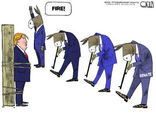 democrats fire at trump shoot self in foot