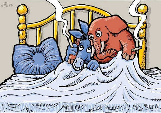 democrats republicans sleeping in same bed smoking cigarettes