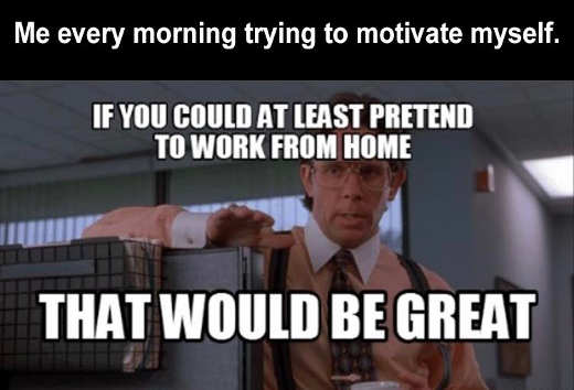 every morning if you could at least pretend work from home that would be great