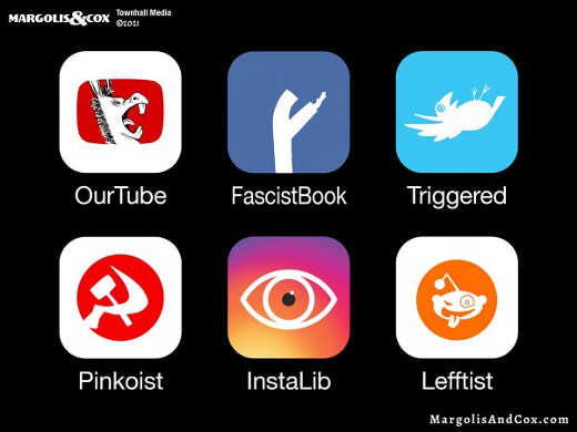 fascistbook triggered pinkoist instalib leffist ourtube big tech
