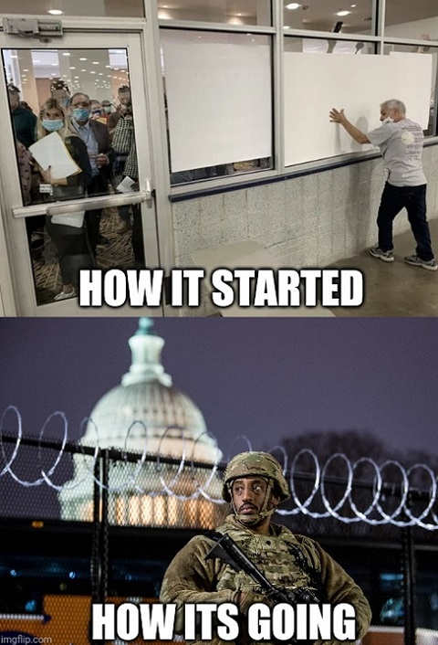 how it started voter fraud cover counting hows it going soldiers guarding
