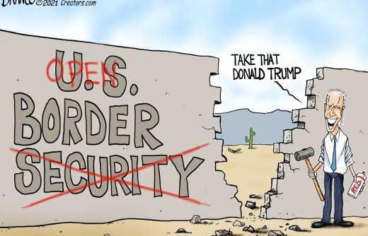 joe biden knocking down border wall take that donald trump