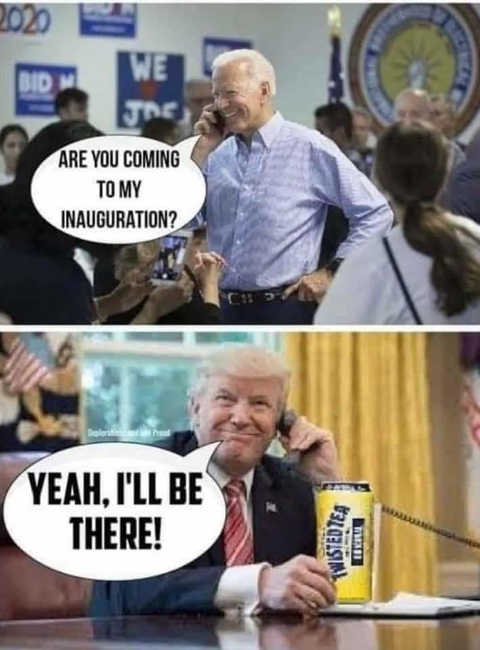 joe biden will you be at inauguration trump yes twisted tea