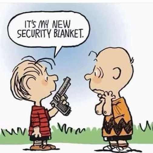 linus charlie brown gun new security blanket