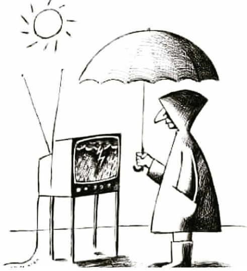 media tv says raining umbrella bright sun