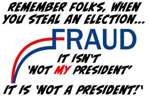 message fraud joe biden not my president not a president