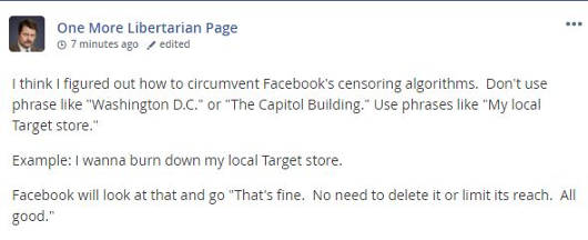 mewe one more libertarian page facebooks censoring algorithms