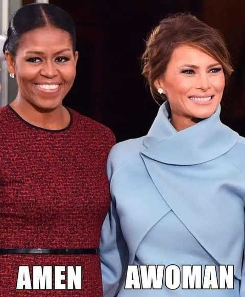 michele obama amen melania trump awoman