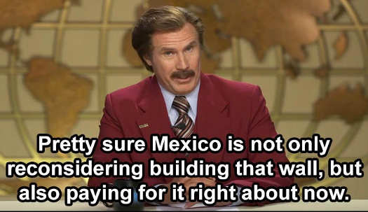 pretty sure mexico building wall bow and paying for it