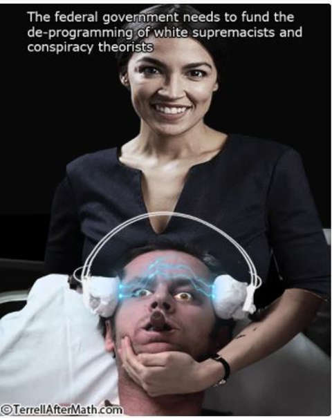 quote aoc ocasio cortez federal government fund deprogramming conspiracy theorists