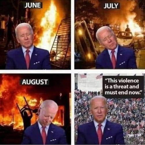 sleepy joe biden blm antifa riots now this violence threat must end now