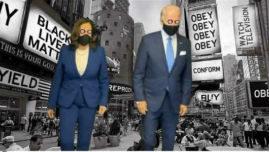 they live conform blm obey joe biden kamala harris masks