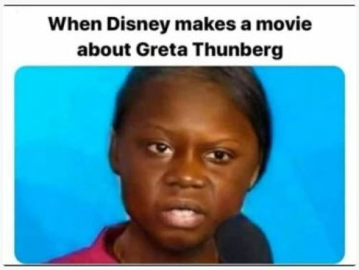 when disney makes movie about greta thunberg change color of main character