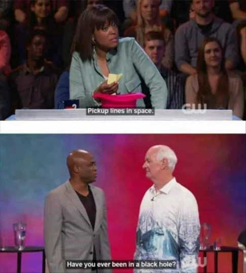 whose line is it anyway pickup line in space black hole
