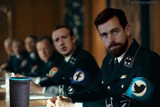 zuckerberg dorsey facebook google nazi uniforms
